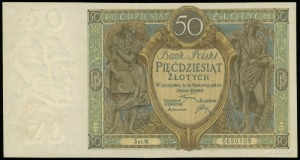 50 złotych 28.08.1925, seria W, numeracja 0690109, Luco...