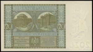 20 złotych 1.09.1929, seria DN, numeracja 0982012, Luco...