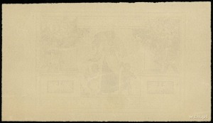 próbny druk strony odwrotnej 20 złotych 20.06.1931, nie...