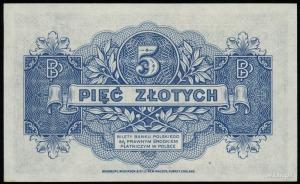 5 złotych 15.08.1939, seria A, numeracja 2223080, Lucow...