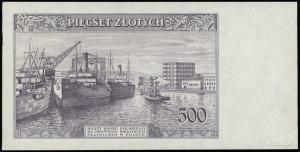próbny druk strony odwrotnej banknotu 500 złotych 15.08...