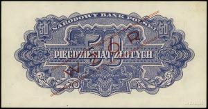 50 złotych 1944, w klauzuli OBOWIĄZKOWE, obustronnie cz...