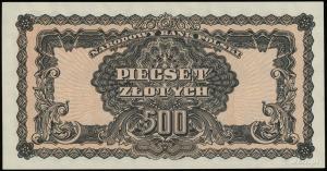 500 złotych 1944, w klauzuli OBOWIĄZKOWE, seria ВН, num...
