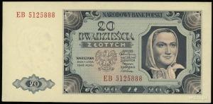 20 złotych 1.07.1948, seria EB, numeracja 5125888, Luco...