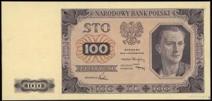 próbny druk w kolorze fioletowo-różowym banknotu 100 zł...