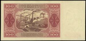 100 złotych 1.07.1948, seria FZ, numeracja 4593208, bez...