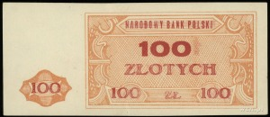 Narodowy Bank Polski, niewyemitowany banknot 100 złotyc...