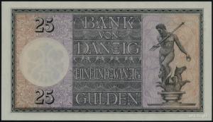 Bank von Danzig, 25 guldenów 2.01.1931, seria B/C, nume...