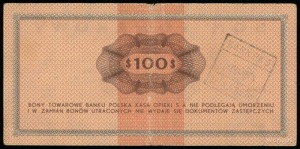Bank Polska Kasa Opieki S.A., bon towarowy na 100 dolar...
