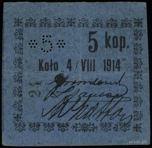 Koło, 5, 10, 15, 20 i 50 kopiejek 4.08.1914, Podczaski ...