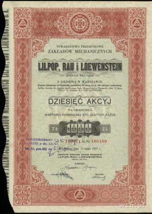 Towarzystwo Przemysłowe Zakładów Mechanicznych Lilpop, ...
