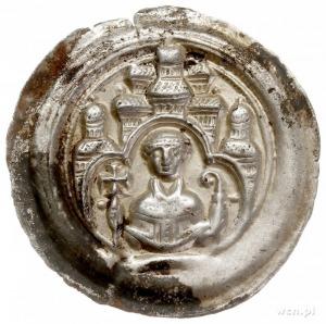 krąg magdeburski, brakteat czwarta ćwierć XII w.; Nad b...