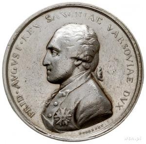 Fryderyk August I, medal autorstwa Hoecknera wybity z o...