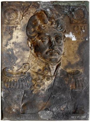 książę Józef Poniatowski - jednostronna plakieta sygnow...