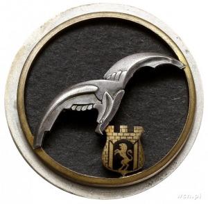 odznaka pamiątkowa 6 Pułku Lotniczego -Lwów, dwuczęścio...