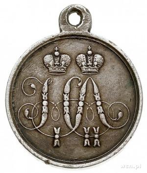 medal Za Obronę Sewastopola 1854-1855, srebro, 28 mm, 1...