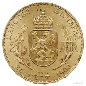 Ferdynand I 1887-1918, 20 lewa 1912, Wiedeń, wybite z o...