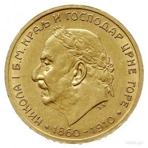 Mikołaj I 1860-1918, 10 perpera 1910, Wiedeń, wybite z ...