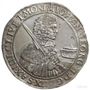 Jan Jerzy II 1656-1680, talar 1660 CR, Drezno, srebro 2...