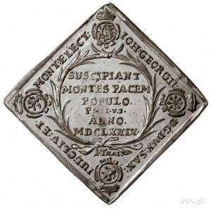 Jan Jerzy II 1656-1680, klipa talara strzeleckiego 1679...