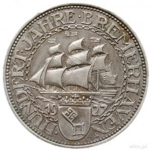 5 marek 1927 A, Berlin, 100-lecie portu w Bremie (100 J...