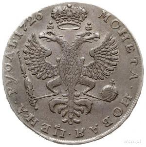 rubel 1726, Krasnyj Dvor (Moskwa), starszy typ z orłem ...