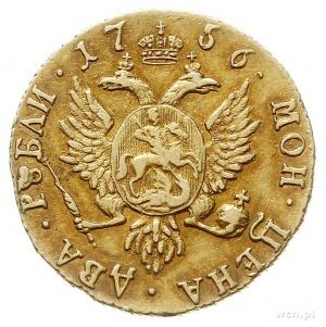 2 ruble 1756, Krasnyj Dvor (Moskwa), złoto 3.20 g, Diak...