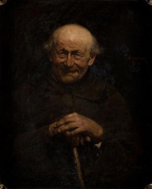 Teodor Axentowicz, STUDIUM ŚMIEJĄCEGO SIĘ STARUSZKA, 1881