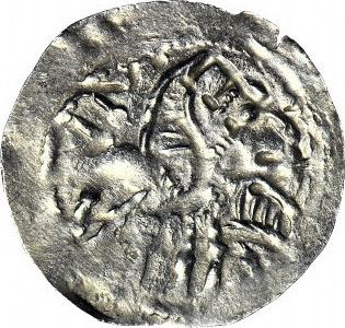 RR-, Bolesław IV Kędzierzawy po 1166, Denar, Władca na tronie/ Ptak