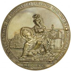 Medal upamiętniający reformę monetarną z 1766 roku.