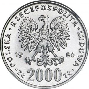 2000 złotych 1980, Lake Placid - Skoczek, PRÓBA dla złota, nikiel