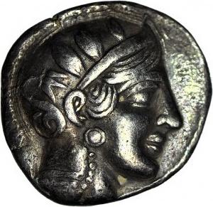 Grecja, Attyka, Ateny, tetradrachma 479-393 pne, Głowa Ateny/Sowa