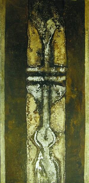 """Hilary Krzysztofiak (1926-1979), TOTEM NR 11 Z CYKLU: """"TOTEMY ŻOLIBORSKIE"""", 1966 r."""