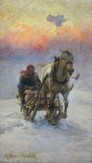 Wierusz-Kowalski Alfred, JAZDA SANIAMI
