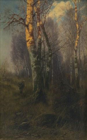 Kochanowski Roman, O ZACHODZIE. ZBIERANIE CHRUSTU, OK. 1895
