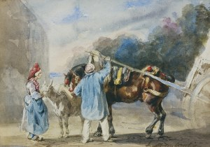 Michałowski Piotr, SCENA ULICZNA ..., 1832-1835
