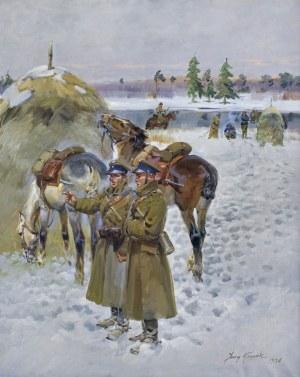 Kossak Jerzy, NA ZIMOWYM PATROLU, 1936