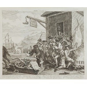"William HOGARTH (1697-1764), Z cyklu: ""Inwazja"""