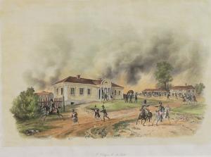Albrecht ADAM (1786-1862), Dwór w Dokszycach  w dniu 18 lipca