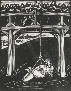 Władysław SKOCZYLAS (1883-1934) - według, Ilustracja - Klasztor i kobieta. Studium