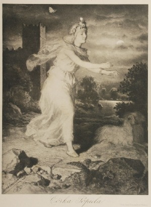 Artur GROTTGER (1837-1867) -według, Córka Popiela