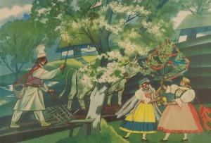 Zofia STRYJEŃSKA (1894-1976) - według, Powitanie wiosny