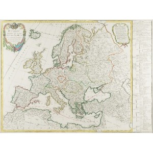 Robert Gilles de VAUGONDY (1688-1766), Mapa Europy