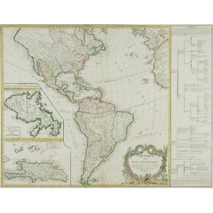 Gilles ROBERT de VAUGONDY, Mapa Ameryki (