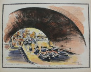 Michel Adlen (1898-1980), Vue sous le Pont St.Michel