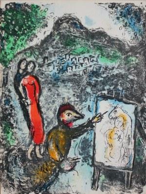"""Marc Chagall (1929-2005), Devant St-Jeannet, Avril 1972(""""Les céramiques et sculptures de Chagall"""", 1972, Mourlot #646)"""