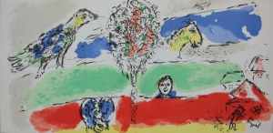 Marc Chagall (1929-2005), Zielona rzeka(1974, Mourlot #728)
