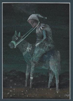Stasys Eidrigevičius, Postać na koniu (1984)