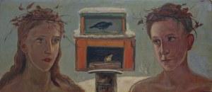 Wlastimil Hofman (1881-1970), Dzieci przy karmniku dla ptaków (1960)