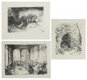 Hans MEID (1883-1957), Zestaw trzech rycin:
